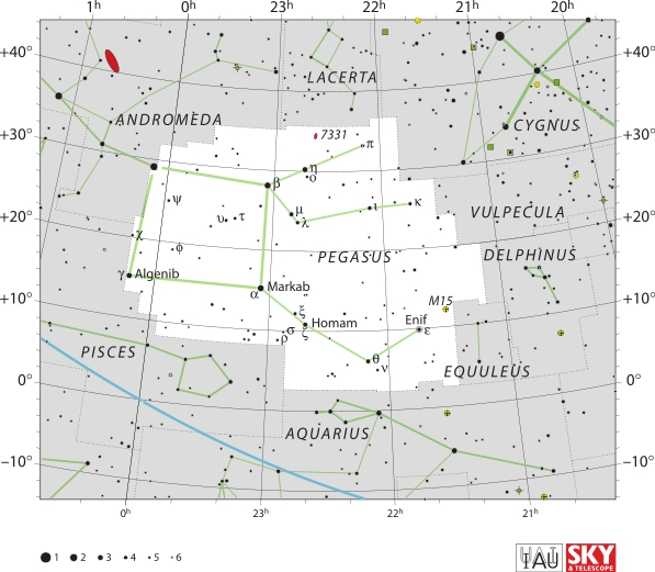 Constelatia Pegasus. Imagine IAU