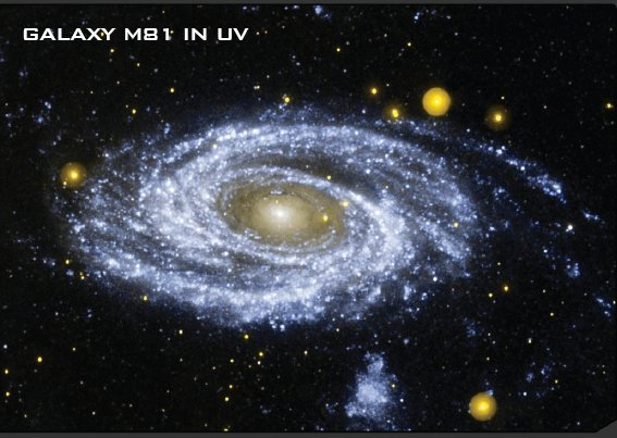 Galaxia M81 in UV