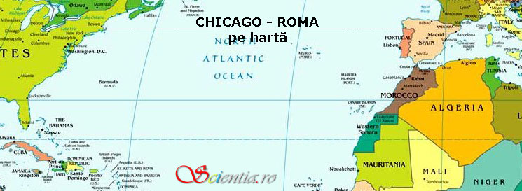 Chicago - Roma pe hartă
